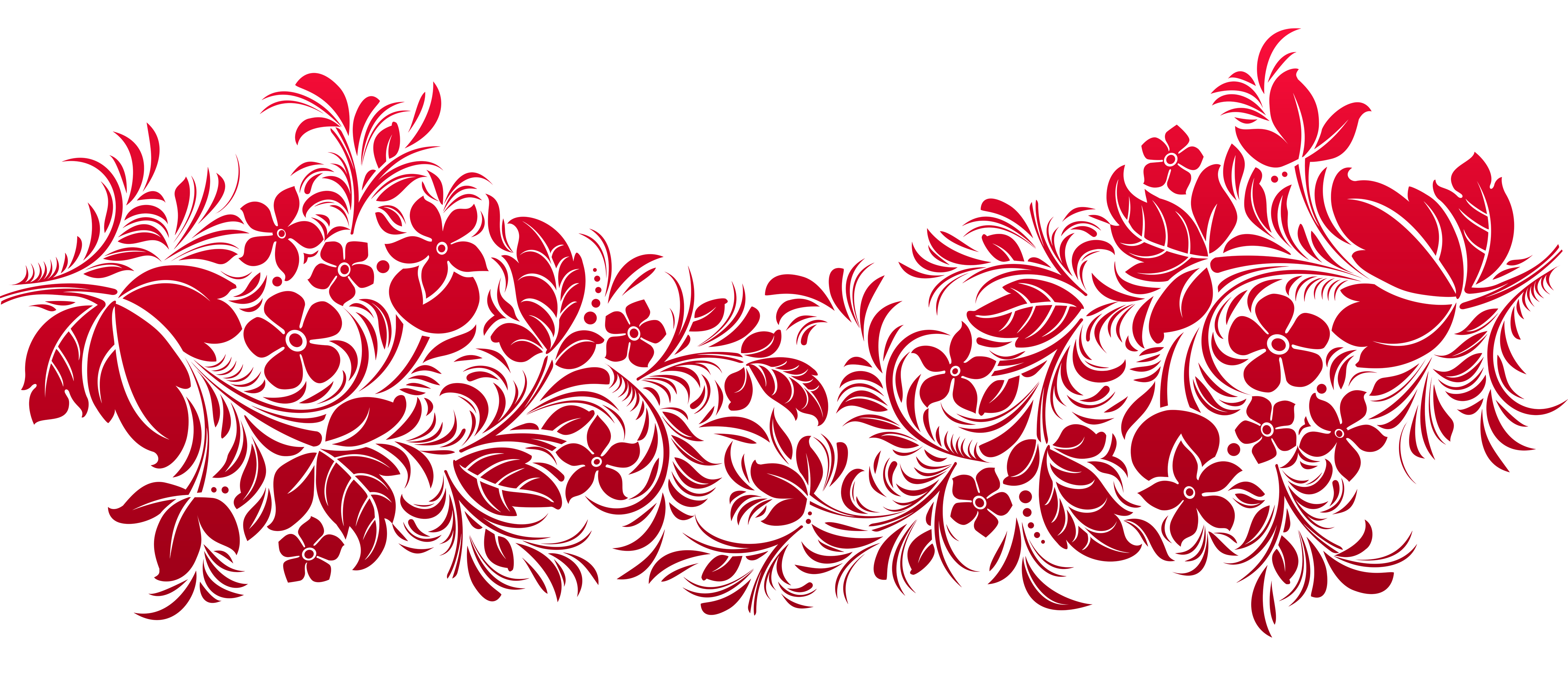 Red Transparent Decoration PNG Clipart.
