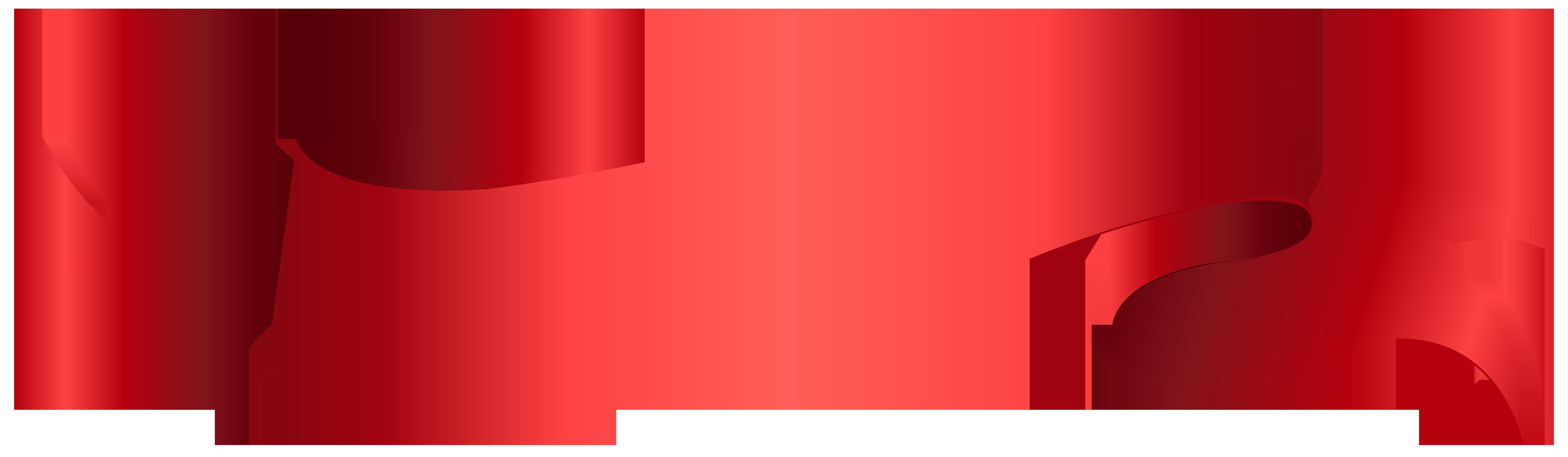 Banner Red PNG Clip Art Transparent Image.