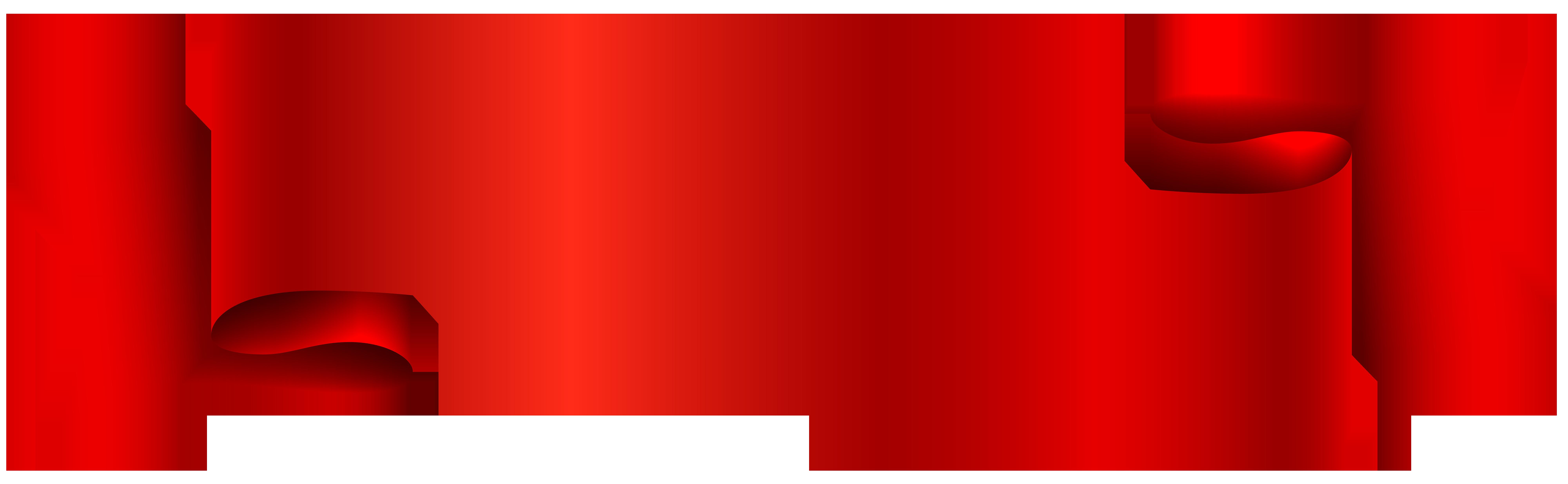 Red Banner Transparent PNG Clip Art Image.