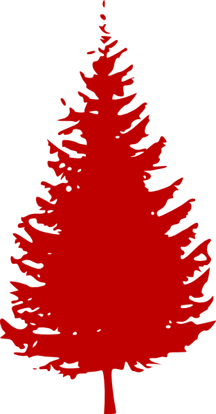 Red Evergreen Tree Clip Art At Clker