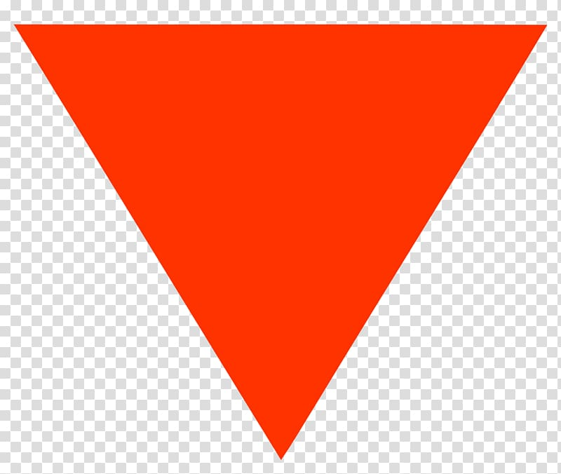Red Triangle Symbol Logo United States , inverted triangle.