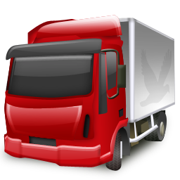 red truck png image.