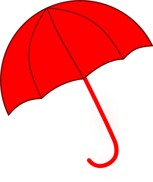 Clipart Red Umbrella.