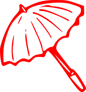 Red umbrella clipart.