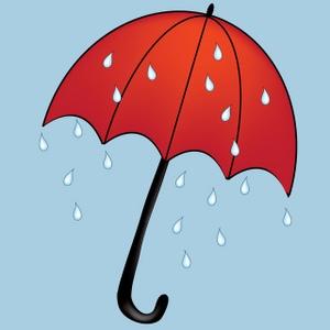 Animated Umbrellas Clipart.