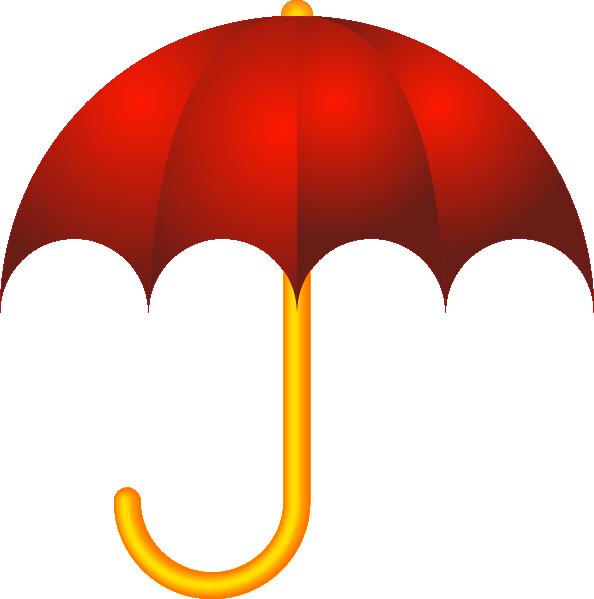 Red Closed Umbrella.