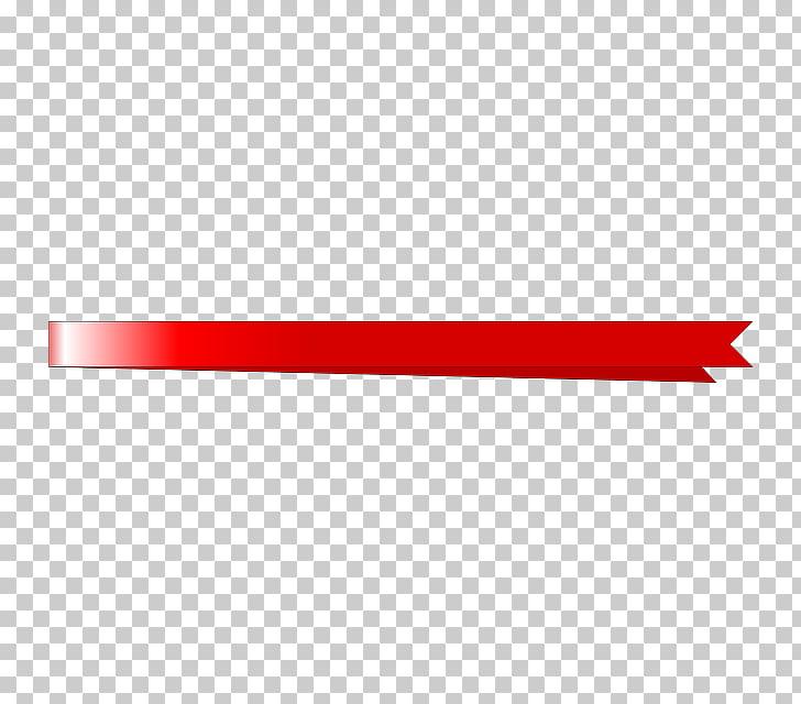 Line Angle Font, underline , red ribbon illustration PNG.