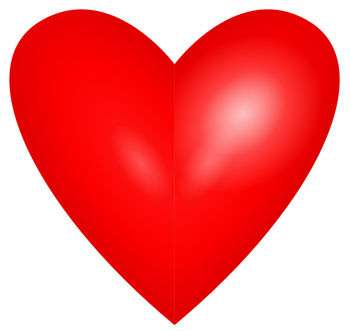Free Clipart of a Red Valentine Heart valentine.