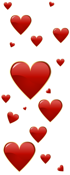 VALENTINE\'S DAY RED HEARTS CLIP ART.