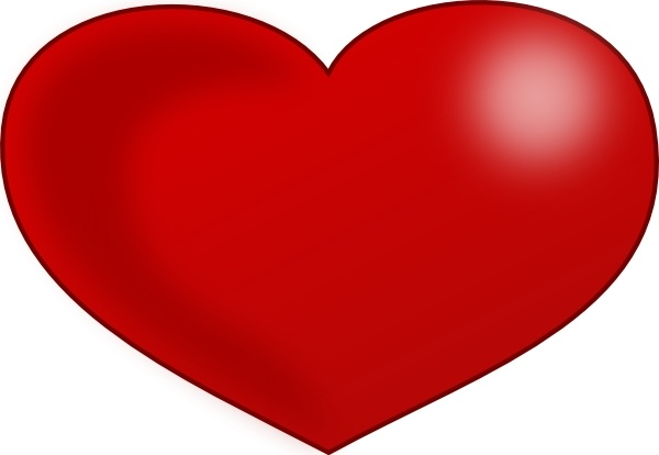 Red Glossy Valentine Heart clip art Free vector in Open.