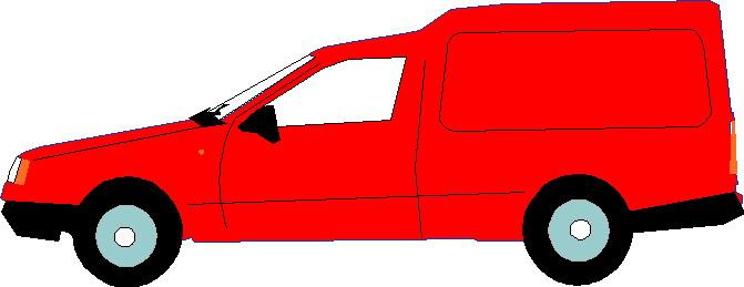 Red Van Clipart.