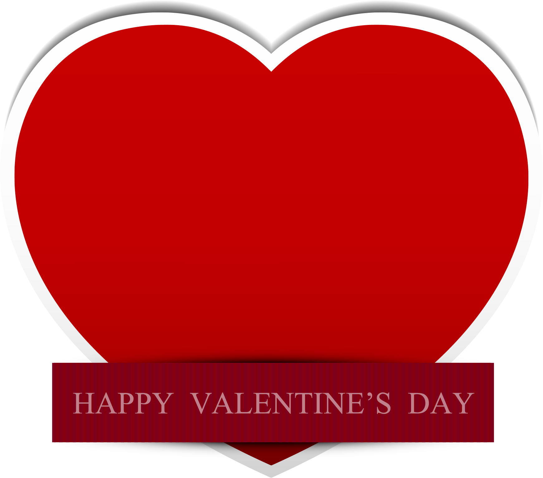 Red Valentines Day Heart Clip art.