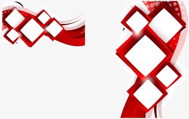 Vector Square Background, Red, Vector, Creative Design PNG.