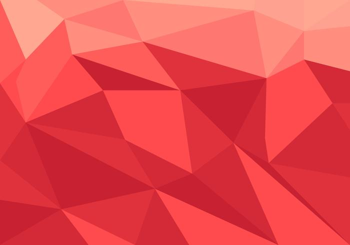 Red Low Poly Vector.