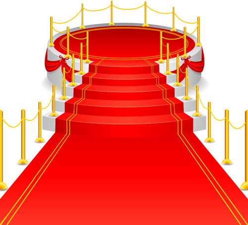 Celebration red carpet background vector Free vector in.