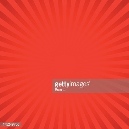Red vector background of radial lines. Clipart Image.