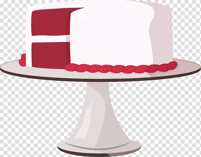 Red velvet cake transparent background PNG cliparts free.