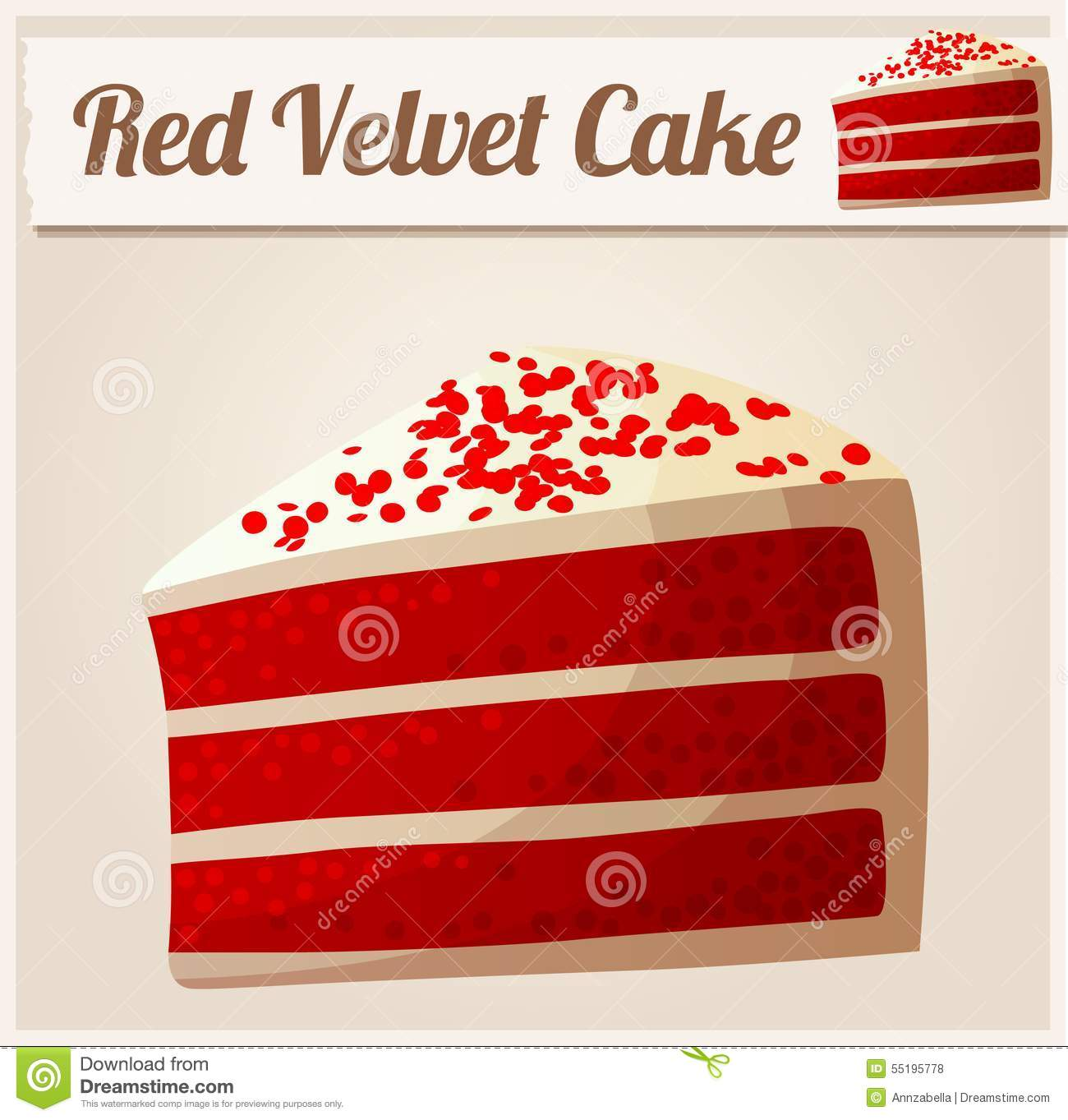 Red Velvet Cake Stock Illustrations.