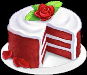 Red Velvet Cake Clipart.