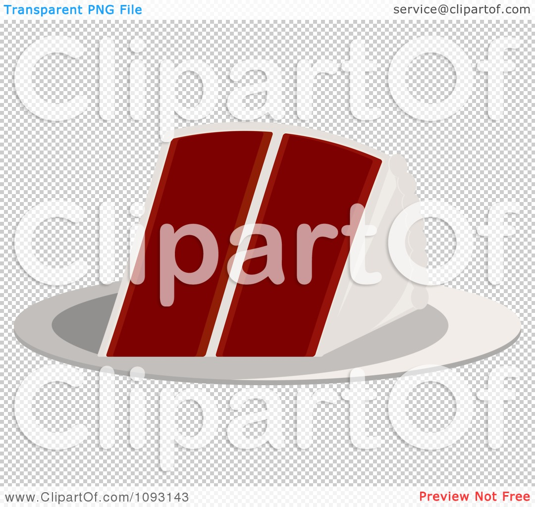 Clipart Serving Of Red Velvet Cake.