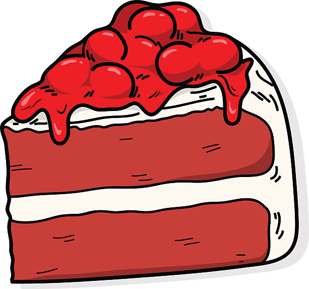 Red Velvet Cake Cartoons Clip Art, Vector Images & Illustrations.