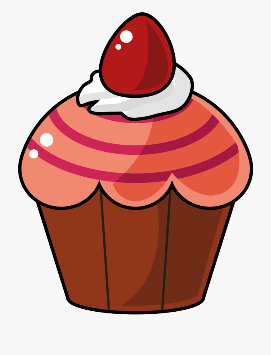 Free Cartoon Cupcake Clip Art.