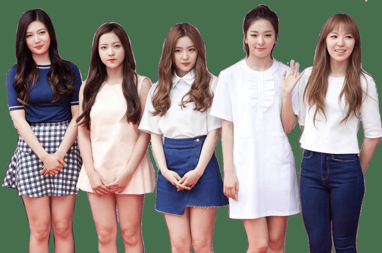 Red Velvet Full Group transparent PNG.