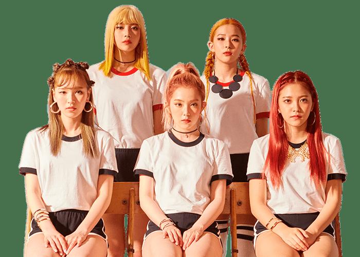 Red Velvet Group Photo transparent PNG.