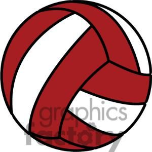 red volleyball.