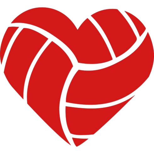 clipart volleyball red #729.