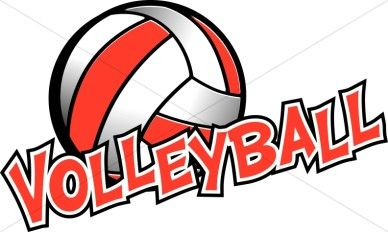 Red Volleyball Clip Art.