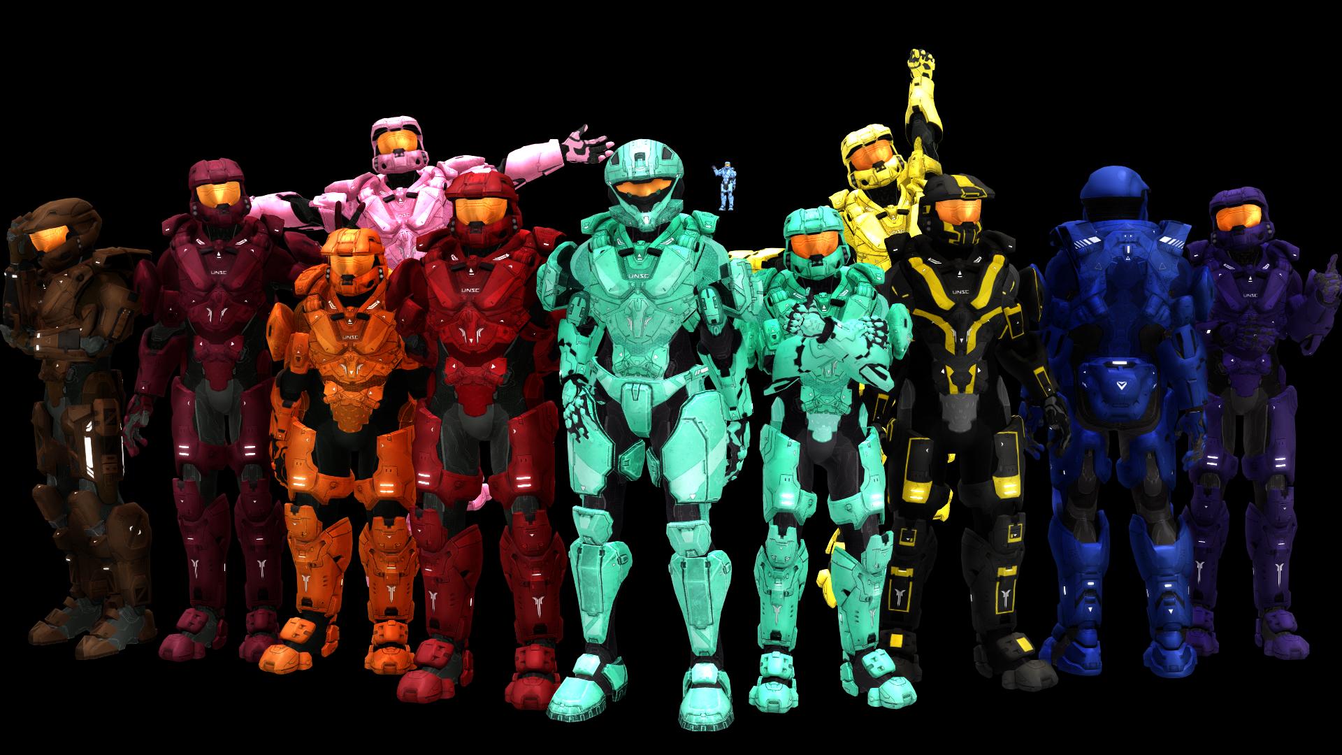 MMD Red vs Blue Teams+ [DL] by RandomDraggon.deviantart.