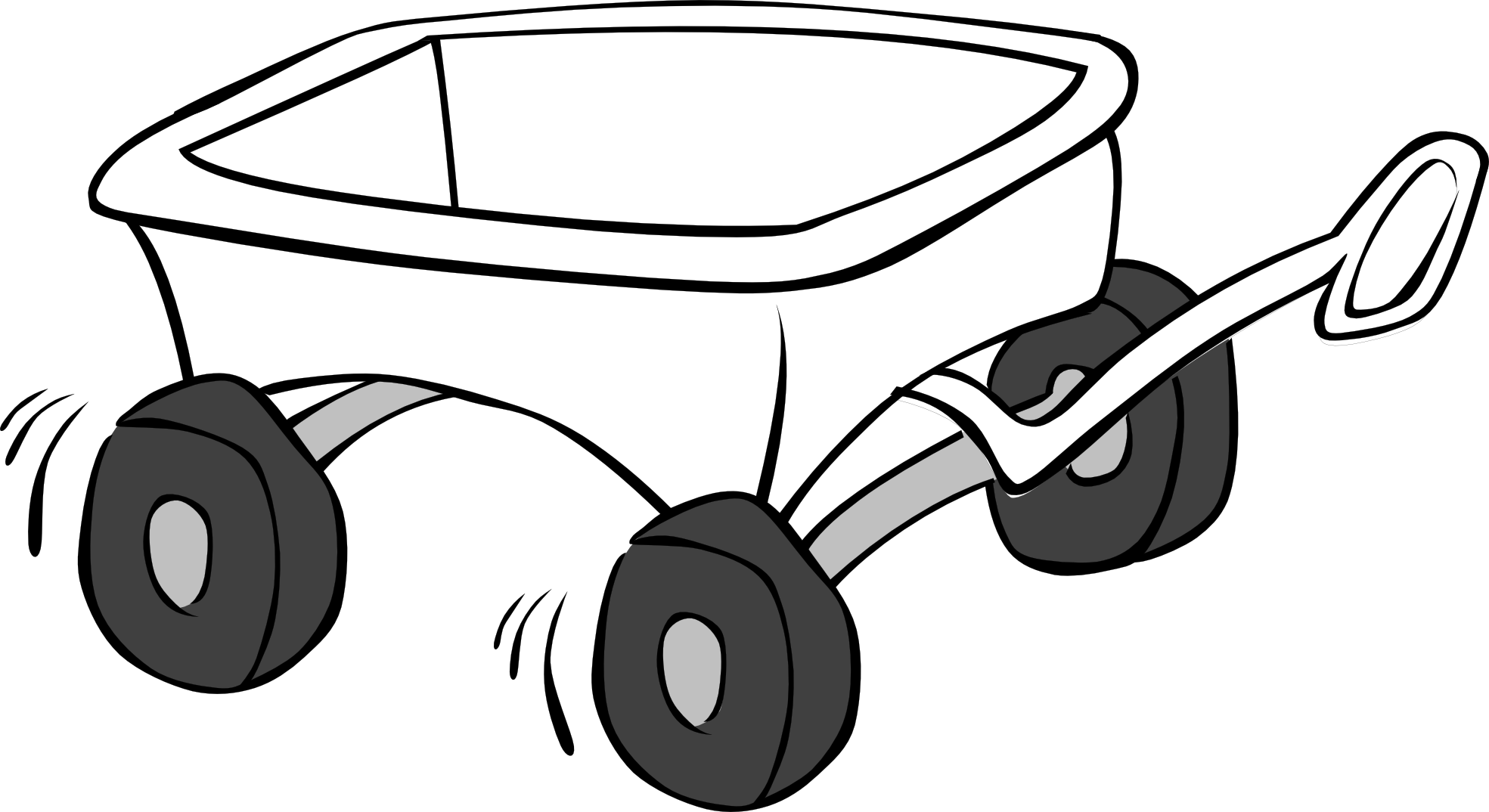 Wagon Clipart Black And White.