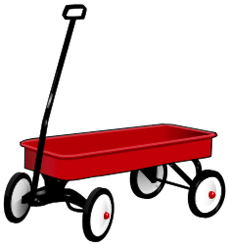 Download Free png Red Wagon Clip Art Red wagon.