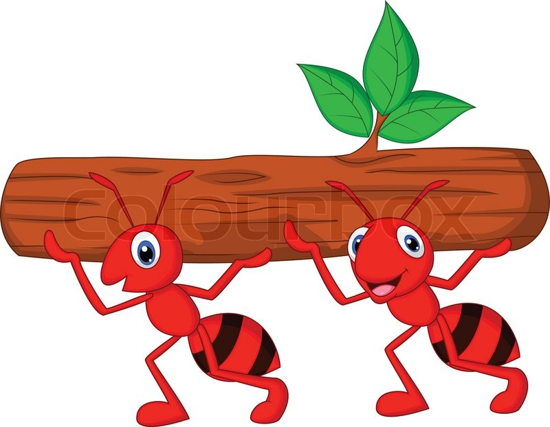 Similiar Ants Working Together Cartoon Keywords.
