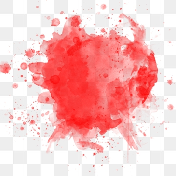 Red Watercolor PNG Images.