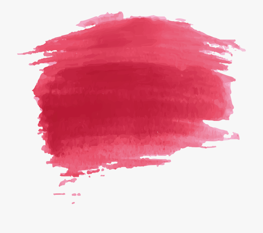 Watercolor Paint Painting Effect Red Free Png Hq.
