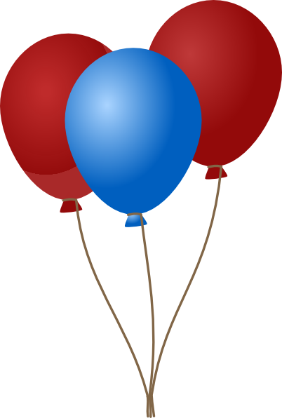 Red White And Blue Balloons.
