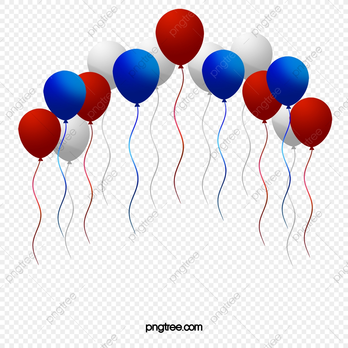 American Red White And Blue Balloons, Balloon, Red, White.
