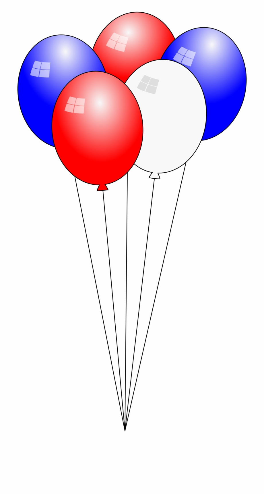 This Free Icons Png Design Of Swaying 4th Of July Balloons.
