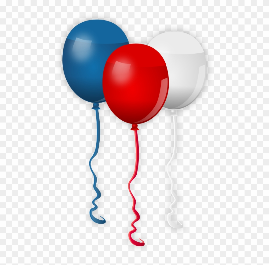 Red White Blue Balloons.