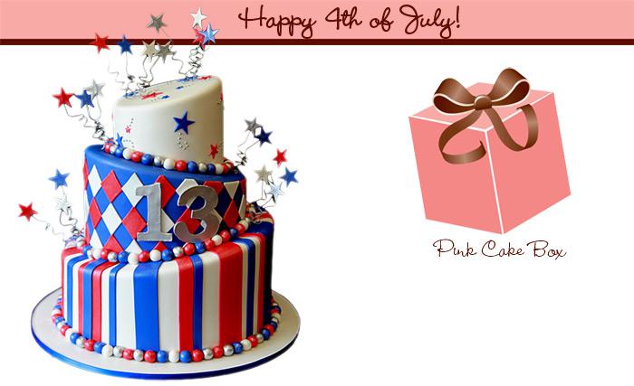 Birthday cake clip art patriotic.