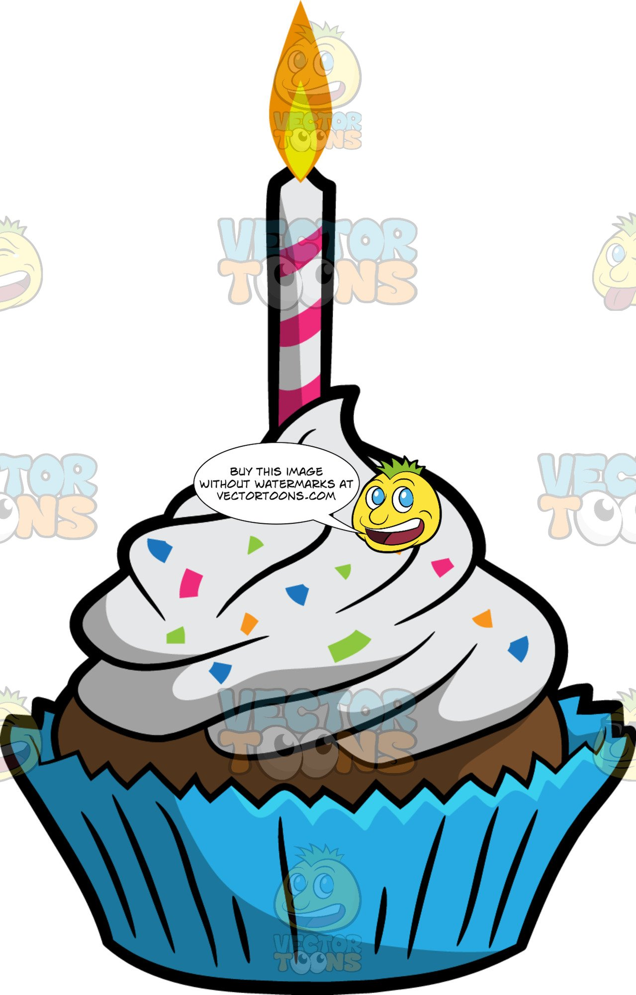A Birthday Cupcake.