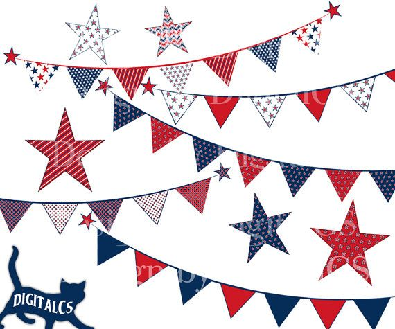 4th of July clipart clip art Independence day digital PNG.