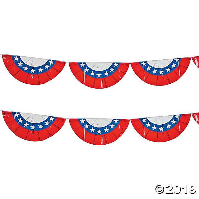 Plastic Patriotic Bunting.