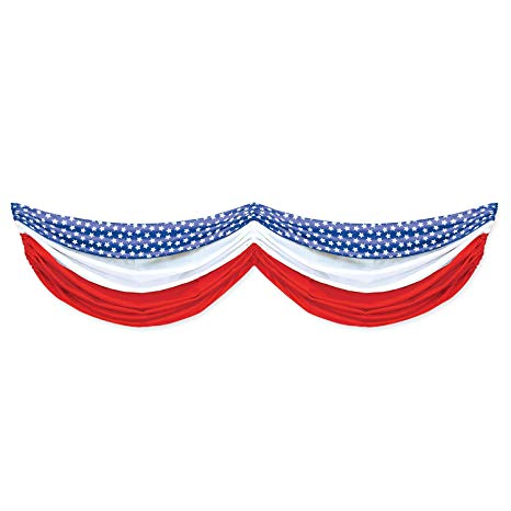 Beistle Stars and Stripes Fabric Bunting, 5.