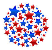 Red white and blue clip art.