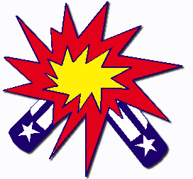 red white and blue firework clipart #4
