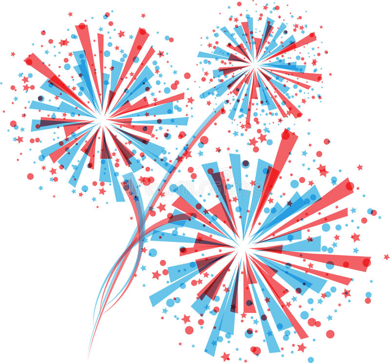 Red white and blue fireworks clipart 2 » Clipart Station.