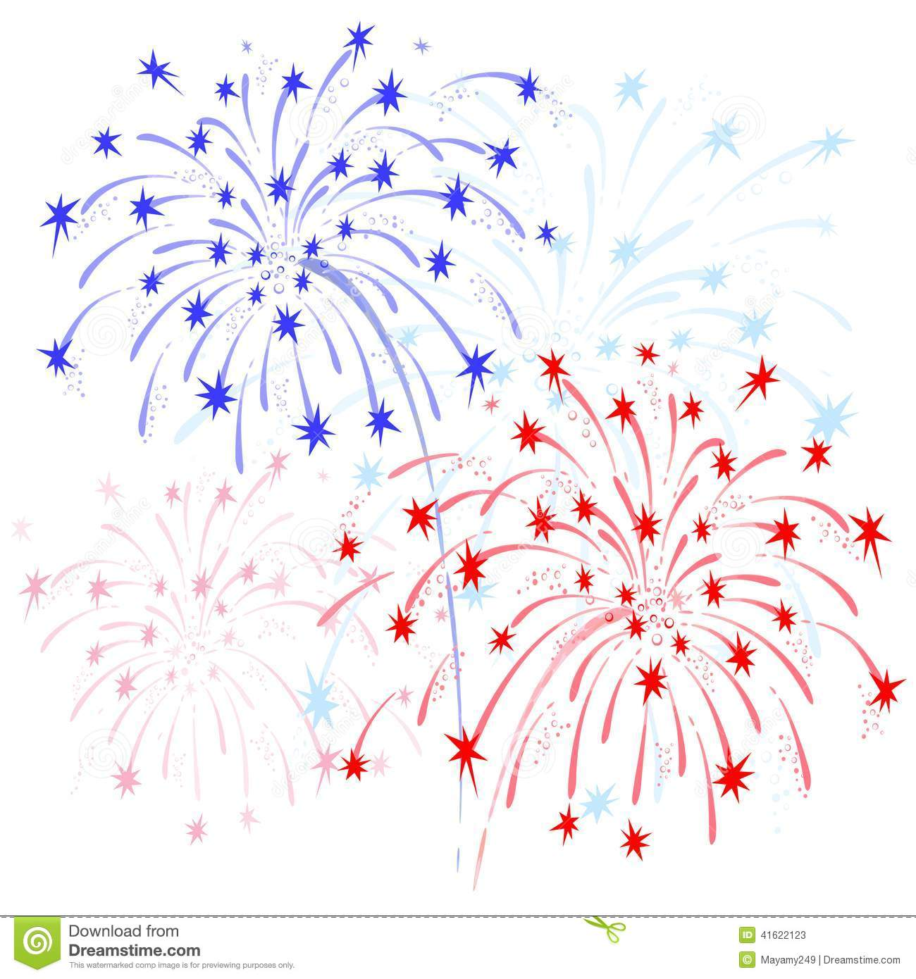 Red white and blue fireworks clipart 1 » Clipart Station.
